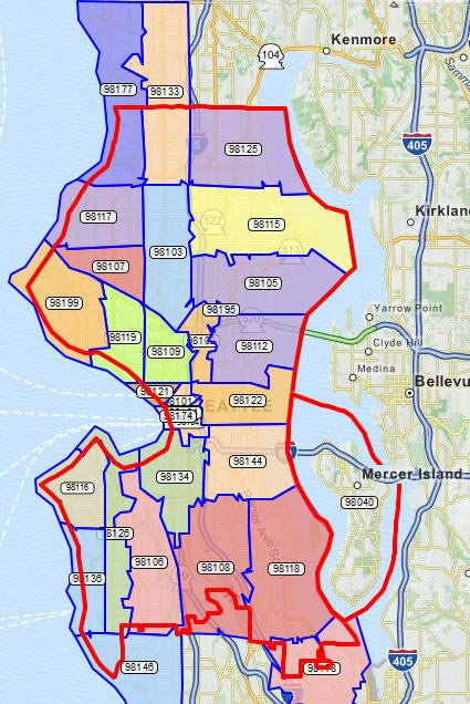 Seattle Zip Codes Map Zip Code Map